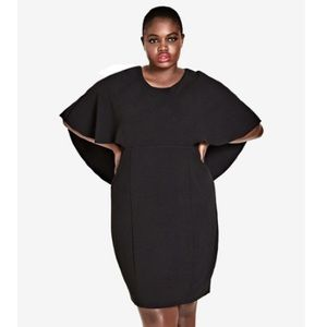 NEW City Chic Cape Sleeve Dress